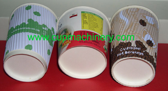 Dirrect type double walls paper cups